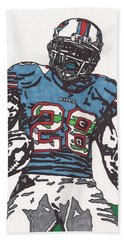 Cj Spiller 1 Beach Sheet by Jeremiah Colley