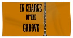 Clarinet In Charge Of The Groove 5525.02 Beach Towel