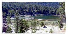Clark Fork River Missoula Montana Beach Sheet by Kay Novy