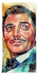 Clark Gable Portrait Beach Towel