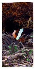 Clark's Anemonefish, Indonesia 2 Beach Towel