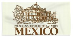 Classic Architecture In Mexico City Print Beach Towel