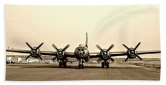 Classic B-29 Bomber Aircraft Beach Sheet