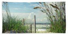 To The Beach Sea Oats Beach Towel