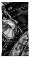Beach Sheet featuring the photograph Classic Britsh Mg by Adrian Evans