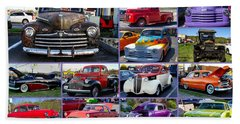 Beach Towel featuring the photograph Classic Cars by Robert L Jackson