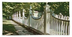 Beach Towel featuring the photograph Classic Fence by Betsy Zimmerli