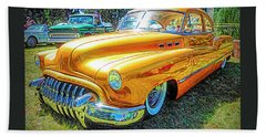 Classic Fifties Buick - Cruising The Coast Beach Towel