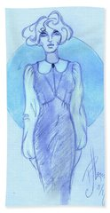 Beach Towel featuring the drawing Classic Fitted Jumper by P J Lewis