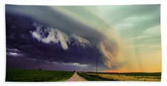 Classic Nebraska Shelf Cloud 024 Beach Sheet