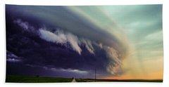Classic Nebraska Shelf Cloud 027 Beach Sheet