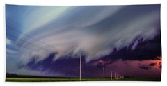 Classic Nebraska Shelf Cloud 028 Beach Sheet