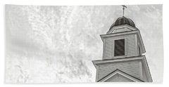 Beach Sheet featuring the photograph Classic New England Church Etna New Hampshire by Edward Fielding