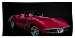 Classic Red Corvette Beach Towel
