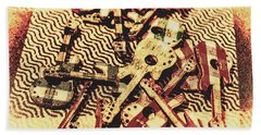 Classic Rock And Roll Art Beach Towel