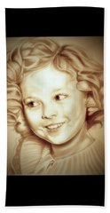 Classic Shirley Temple Beach Towel by Fred Larucci