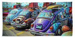 Classic Volkswagen Beetle - Old Vw Bug Beach Towel