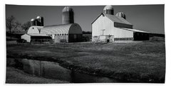 Beach Towel featuring the photograph Classic Wisconsin Farm by Viviana  Nadowski