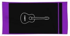 Classical Guitar In Purple Beach Sheet by David Bridburg