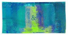 Beach Towel featuring the digital art Classico - S03c26 by Variance Collections