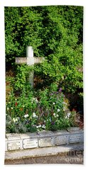Claude Monet Grave In Giverny Beach Towel