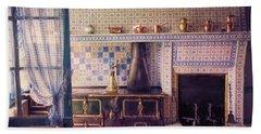 Beach Towel featuring the photograph Claude Monet's Kitchen by John Rivera