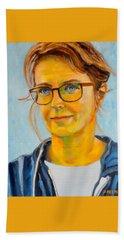Claudia-portrait Beach Towel
