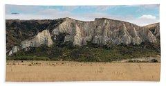 Beach Towel featuring the photograph Clay Cliffs Omarama by Gary Eason