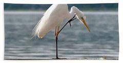 Cleaning White Egret Beach Sheet