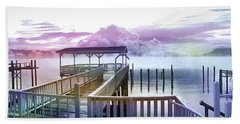 Clouds On Clear Lake Beach Towel