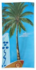 Clear Sky Let's Surf Beach Towel