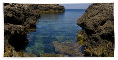 Clear Water Of Mallorca Beach Towel
