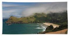Clearing Fog Along The Oregon Coast Beach Sheet