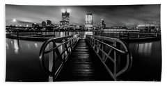 Clearing Skies In Milwaukee Monochrome Beach Towel