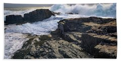 Beach Towel featuring the photograph Clearing Storm At Bald Head Cliff by Rick Berk