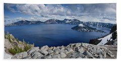 Clearing Storm At Crater Lake Beach Towel