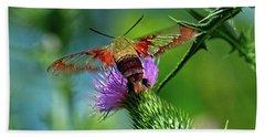 Clearwing Hummingbird Moth Beach Towel