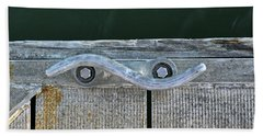 Cleat On A Dock Beach Towel