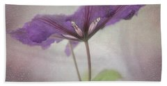 Beach Towel featuring the photograph Clematis Eyes by Jacqui Boonstra