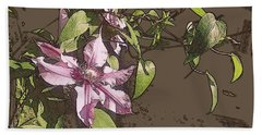 Beach Towel featuring the photograph Clematis by Jodie Marie Anne Richardson Traugott          aka jm-ART