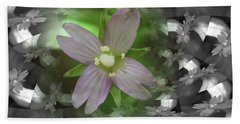 Beach Towel featuring the photograph Clematis by Keith Elliott