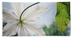 Beach Towel featuring the photograph Clematis Vine And Leaves by Michelle Calkins