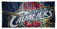 Cleveland Cavaliers Barn Door Beach Towel by Dan Sproul