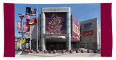 Beach Sheet featuring the photograph Cleveland Cavaliers The Q by Dale Kincaid