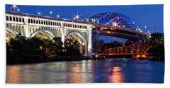 Cleveland Colored Bridges Beach Towel