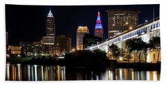 Beach Towel featuring the photograph Cleveland In The World Series 2016 by Dale Kincaid