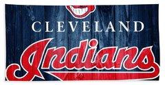 Cleveland Indians Barn Door Beach Sheet