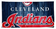 Cleveland Indians Barn Door Beach Sheet