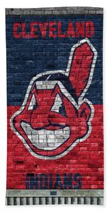 Cleveland Indians Brick Wall Beach Towel