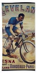 Cleveland Lesna Cleveland Gagnant Bordeaux Paris 1901 Vintage Cycle Poster Beach Towel